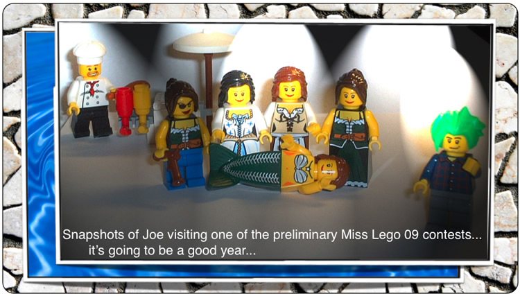 Snapshots of Joe visiting one of the preliminary MIss Lego 09 contests... it's going to be a good year...